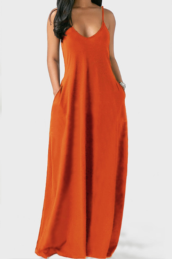 Lovely Leisure Pocket Patched Croci Maxi Dress