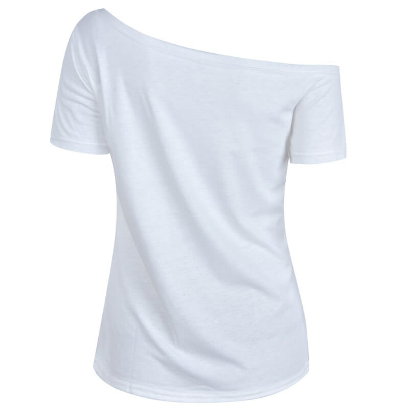 Lovely Casual Letter Print White Plus Size T-shirt