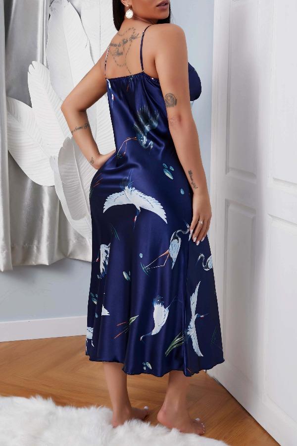 lovely Leisure Print Blue Sleepwear