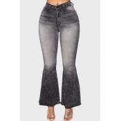 Lovely Stylish Flared Black Jeans
