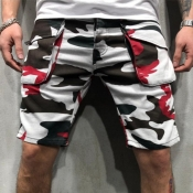Lovely Casual Camo Print Shorts