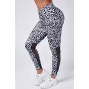 Lovely Sportswear Print Black Leggings