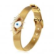 Lovely Trendy Eye Gold Bracelet