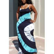Lovely Casual Print White Maxi Plus Size Dress