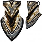 Lovely Sportswear Print Gold Face Mask