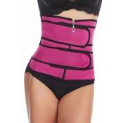 lovely Sportswear Zipper Design Rose Red Bustiers