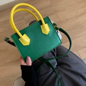 lovely Casual Basic Green Crossbody Bag