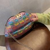 lovely Stylish Lip Pink Crossbody Bag