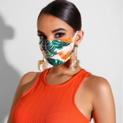 lovely Casual Print Dustproof Green Face Protectio