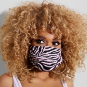 lovely Casual Print Dustproof Pink Face Protection