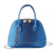 lovely Stylish Zipper Design Blue Crossbody Bag
