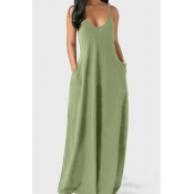 lovely Leisure Pocket Patched Light GreenMaxi Plu