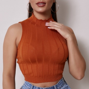 Lovely Stylish Skinny Brown Camisole