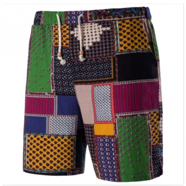 Lovely Casual Color-lump Patchwork Multicolor Shorts