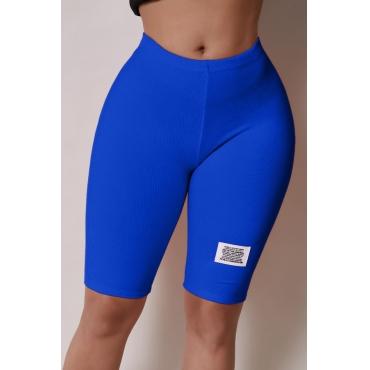 Lovely Casual Basic Skinny Blue Shorts