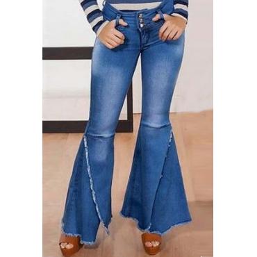 Lovely Stylish Flared Skinny Blue Jeans