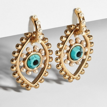lovely Stylish Eye Gold Earring
