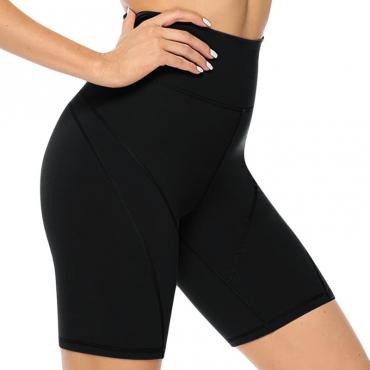 lovely Sportswear Skinny Black Plus Size Shorts