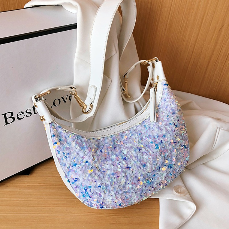 Messenger Bag&Crossbody Bag lovely Stylish Sequined White Crossbody Bag фото