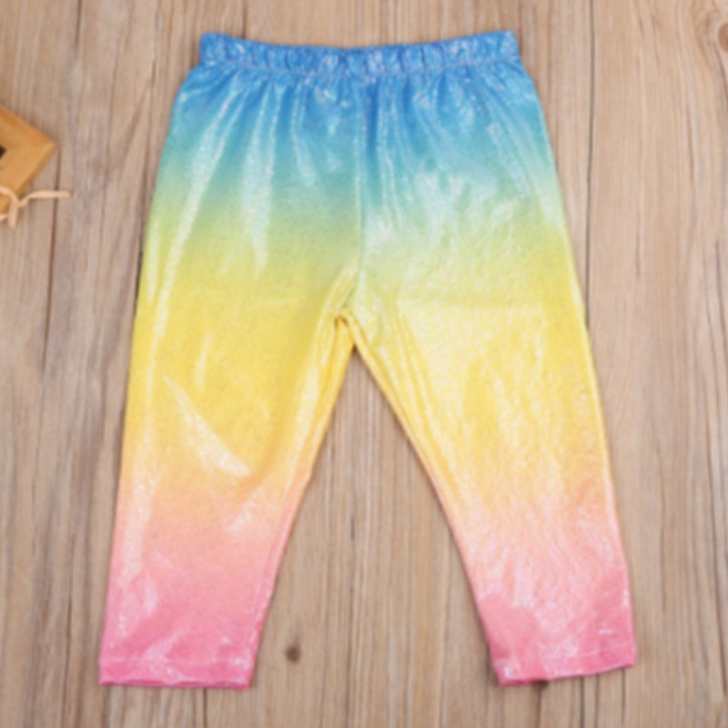 lovely Street Gradual Change Multicolor Girl Pants