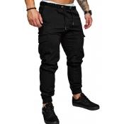 Lovely Casual Drawstring Black Pants