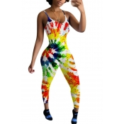 lovely Casual Print Multicolor One-piece Jumpsuit