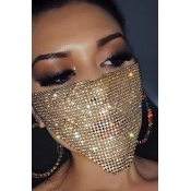 Lovely Sweet Sequined Gold Face Mask