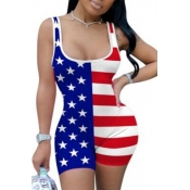 lovely Independence Day Sportswear Print Red One-p