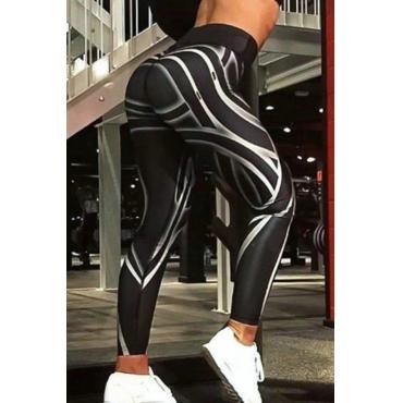 Lovely Sportswear Print Black Pants
