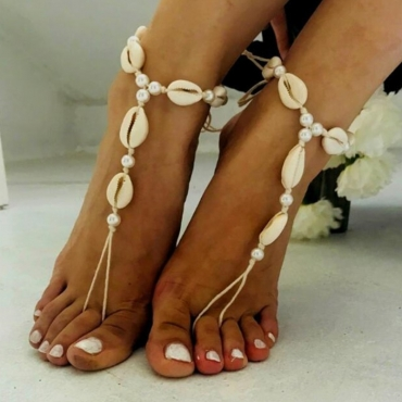 lovely Bohemian Shell White Body Chain
