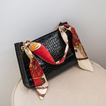 lovely Stylish Chain Strap Black Messenger Bag