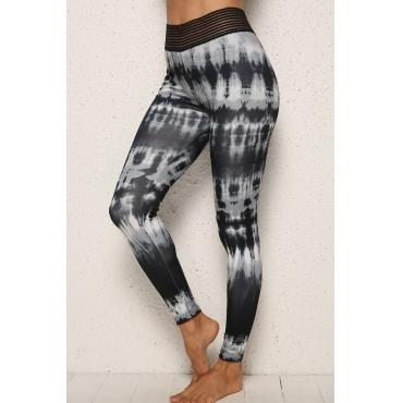 lovely Sportswear Tie-dye Black Pants