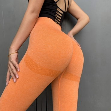 lovely Sportswear Patchwork Orange Pants