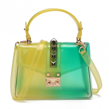 lovely Stylish Gradual Change Yellow Crossbody Bag