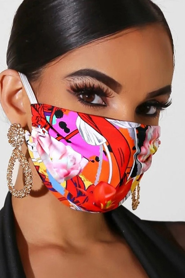 Lovely Print Red Face Mask фото