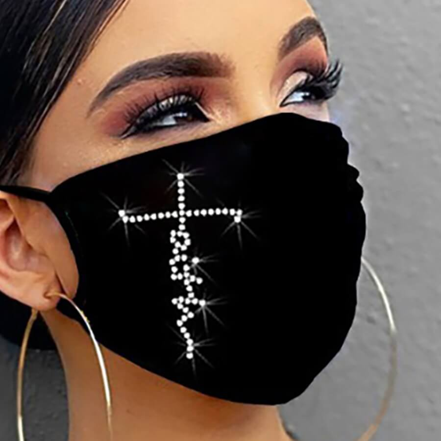 Lovely Print Black Face Mask фото