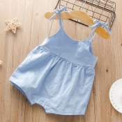 lovely Sweet Lace-up Baby Blue Girl One-piece Romp
