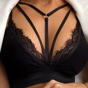 lovely Sexy Hollow-out Black Bras