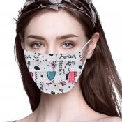 lovely Print Grey Face Mask