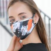 lovely Print Orange Face Mask