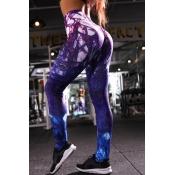 lovely Sportswear Print Multicolor Leggings