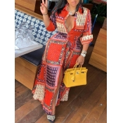 Lovely Casual Print Multicolor Ankle Length Dress