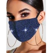lovely Rhinestone Decorative Blue Face Mask
