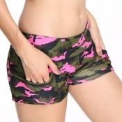 lovely Sportswear Camo Print Multicolor Shorts