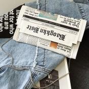 lovely Trendy Letter Print White Crossbody Bag