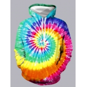 Lovely Street Hooded Collar Tie-dye Multicolor Hoodie