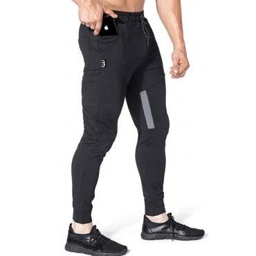 lovely Leisure Pocket Patched Black Pants