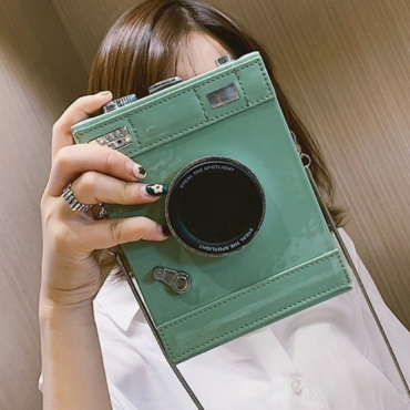 lovely Chic Camera Green Crossbody Bag