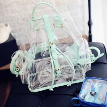lovely Stylish See-through Green Backpack