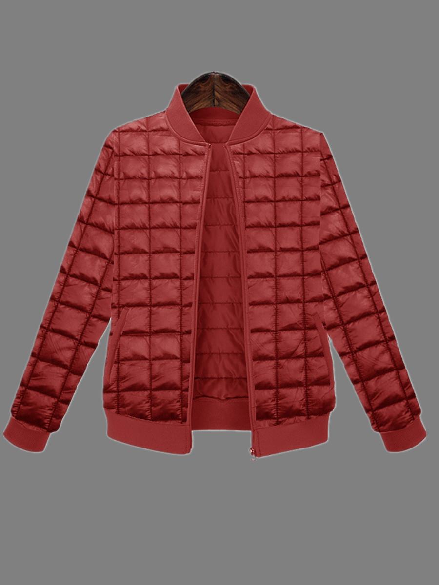 Coat&Jacket lovely Casual Zipper Design Wine Red Jacket фото